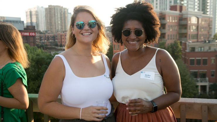 Two YP members at the 2019 Summer Soiree