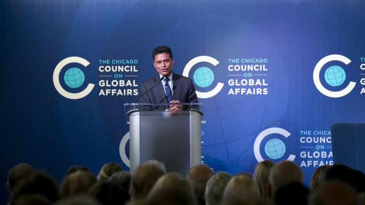 Fareed Zakaria speaking at the Council