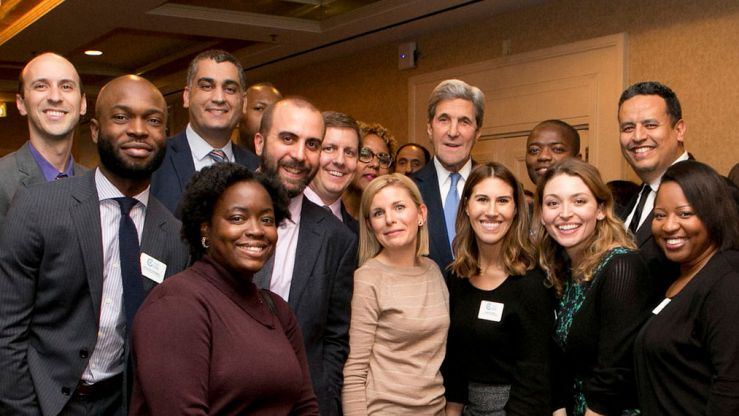 YP members with former US Secretary of State John Kerry