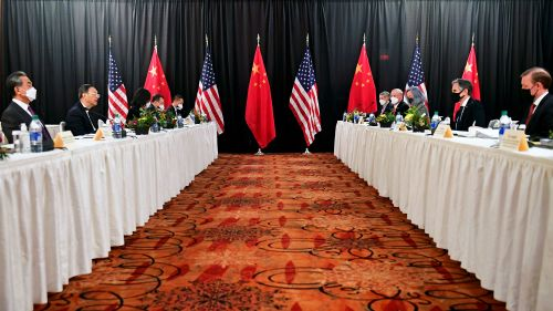 Government officials from the US and China meet in Alaska